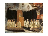 Stories of Holy Monks: the Preaching of St Romuald Giclée-tryk af Paolo Uccello