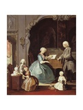 Family Group at a Harpsichord, 1739 Giclee Print by Cornelis Troost