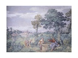 Jesus and Samaritan Woman at Well Giclee Print by Pietro da Cortona