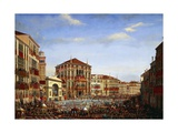 Napoleon at Regatta in Venice, December 2, 1807 Giclee Print by Giuseppe Borsato
