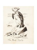The Mock Turtle'- the Mock Turtle Sobbing on a Rock, C.1865 Giclee Print by John Tenniel