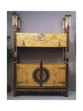 Art Nouveau Style Two Tier Piece of Furniture, 1902 Giclee Print by Carlo Bugatti