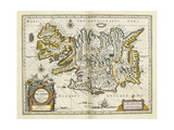 Map of Iceland, from 'Atlas Maior Sive Cosmographia Blaviana', 1662 Giclee Print by Joan Blaeu