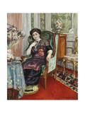 A Woman Sitting in a Chair; Femme Assis Dans Un Fauteuil, 1911 Giclee Print by Henri Lebasque