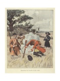The Killing of Rene-Robert Cavelier De La Salle, 1687 Giclee Print by Louis Charles Bombled