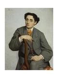 Portrait of Young Man with Cigar Giclee Print by Odoardo Borrani