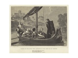 Canute on the River Nene Listening to the Choir of Ely Minster Giclee Print by William Cave Thomas