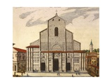The Basilica of San Petronio in Bologna Giclee Print by Joan Blaeu