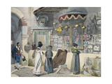 Citizens Worshiping in Rome Giclee Print by Antoine Jean-Baptiste Thomas
