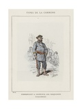 Commandant and Ingenieur Des Barricades, Le Citoyen Gaillard Pere Giclee Print by Charles Albert d'Arnoux Bertall