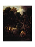 Pipe-Smoking Farmer Outside Doorway of His Cabin Giclee Print by Thomas Gainsborough