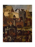 Netherlandish Proverbs, 1559 Reproduction procédé giclée par Pieter Brueghel the Younger