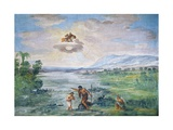 The Baptism of Christ, 1621-1630 Giclee Print by Pietro da Cortona
