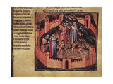 Dante in Hell, Scene from Divine Comedy Giclee Print by Dante Alighieri