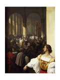 The Conspiracy of Lampugnani, 1826-1829 Giclee Print by Francesco Hayez