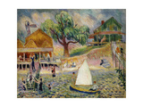 The Green Beach Cottage, Bellport, Long Island, C.1911-1916 Giclee Print by William James Glackens