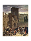 Digging Up of Jacopo Pazzi, 1864 Giclee Print by Odoardo Borrani