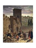 Digging Up of Jacopo Pazzi, 1864 Giclee Print by Odoardo Borrani