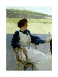 Portrait of Lady Outdoors Stampa giclée di Vittorio Matteo Corcos