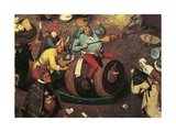Fight Between Carnival and Lent Reproduction procédé giclée par Pieter Brueghel the Younger