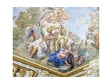 Prudence, Detail of Cycle of Frescoes in Hall of Mirrors Giclee Print by Luca Giordano