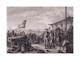 Capture of Island of Grenada, July 4, 1779 Giclee Print by Francois Godefroy