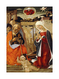 The Nativity, with the Annunciation to the Shepherds in the Distance Giclee Print by Benvenuto Di Giovanni
