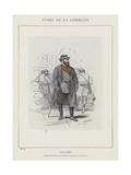 Colonel, Commandant Les Bataillons De La Place Vendome Giclee Print by Charles Albert d'Arnoux Bertall