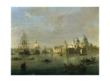 View of Venice with Giudecca and Customs House Giclée-Druck von Gaspar van Wittel
