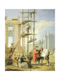 Allegory of Arts, Architecture, 1751-1752 Giclee Print by Giuseppe Zocchi