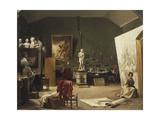 Inside Leon Cogniet's Studio Giclee Print by Marie-Amelie Cogniet