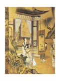 Elegant Pastimes, Painting, Screen Giclee Print by Kano Tansetsu