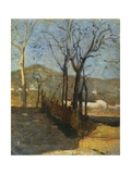 View with Trees, Country Study Triptych, 1861 Giclee Print by Silvestro Lega