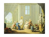 Allegory of Arts, Painting, 1751-1752 Giclee Print by Giuseppe Zocchi