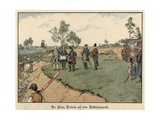 Frederick the Great of Prussia Inspecting Civil Engineering Works Giclee Print by Richard Knoetel