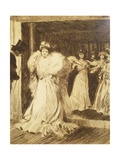 Elegant Lady Leaving Paris Opera Giclee Print by Tony Minartz