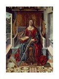 Triptych of St. Catherine, Middle Panel Giclée-tryk af Fernando Gallego