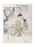 Couple on the Banks of the River Giclee Print by Suzuki Harunobu