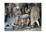 Sculptures of Soldiers, Detail from Crucifixion Giclee Print by Gaudenzio Ferrari