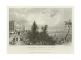 Southend Terrace, Essex, Shewing the Mouth of the Thames Giclee Print by William Henry Bartlett