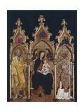 Triptych of St Nicholas, Ca 1440 Giclée-tryk af Giovanni di Paolo