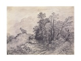 Wooded Landscape with Horse and Boy Sleeping, C.1757 Giclee Print by Thomas Gainsborough