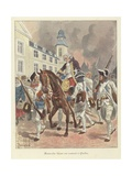 The Wounded General Montcalm Is Brought Back to Quebec, 1759 Giclee Print by Louis Charles Bombled
