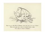 There Was an Old Man of Dunluce, Who Went Out to Sea on a Goose Giclée-Druck von Edward Lear
