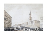 Funeral of French Officer in Weimar, October 1806 Giclee Print by Benjamin Zix