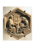 The Scholar Priscian, Teaching Two Students, 1437 Giclee Print by Luca Della Robbia