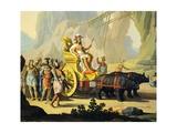 Triumph of America, Circa 1760 Giclee Print by Giuseppe Zocchi