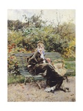 On Bench in Bois, Hyde Park, 1872 Giclee Print by Giovanni Boldini