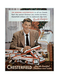 Chesterfield Cigarette Advertisement Featuring Ronald Reagan Giclee Print