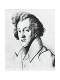 Felix Mendelssohn, Portrait Giclee Print by Johann Joseph Schmeller